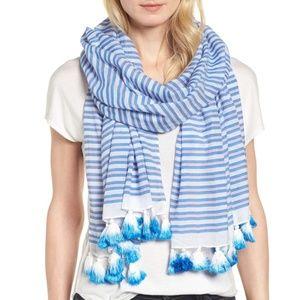 kate spade stripe oblong scarf